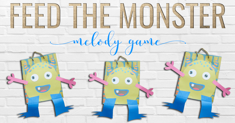 Feed the Monster: a melody game freebie