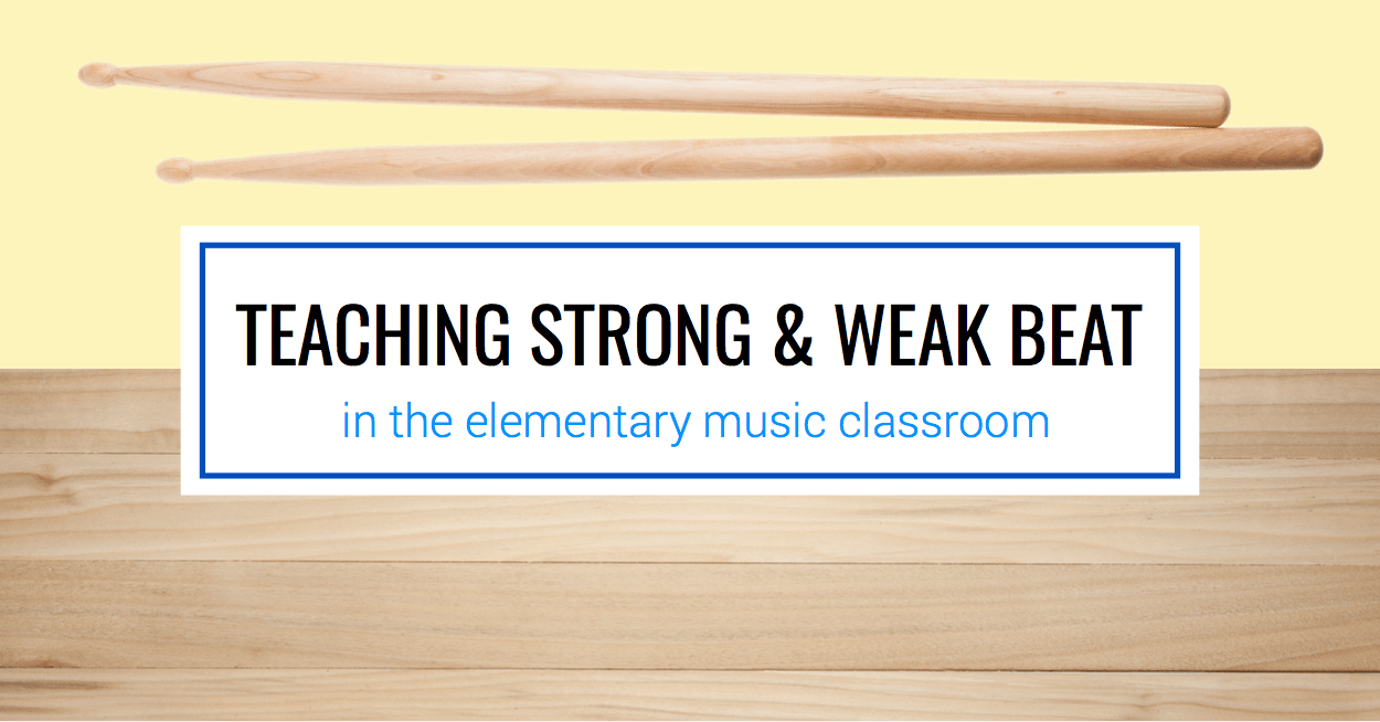 Teaching Strong and Weak Beat