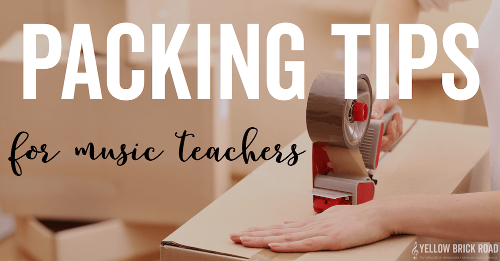 Summer Packing Tips for Music Teachers