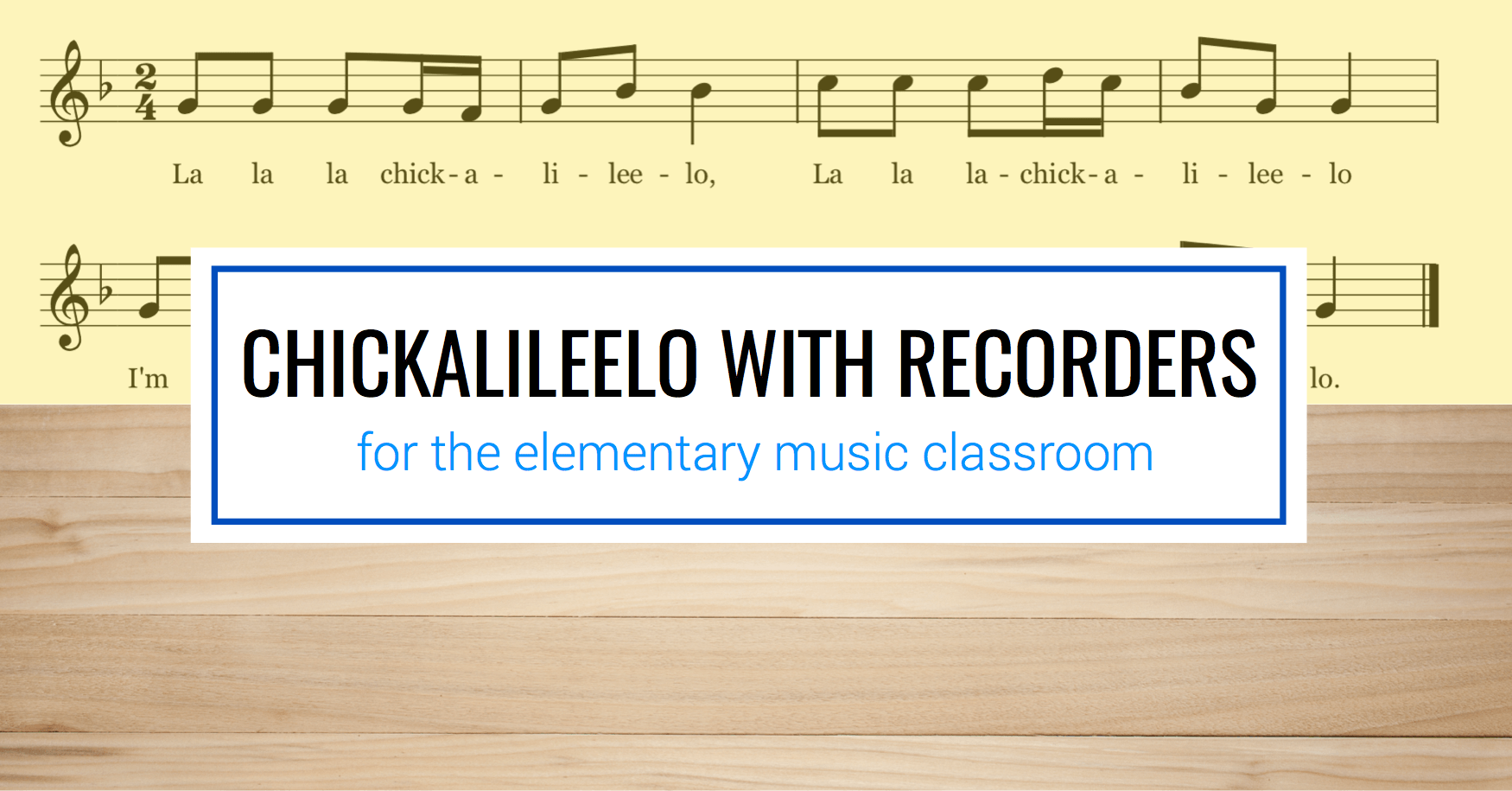Revisiting Recorders with Chickalileelo