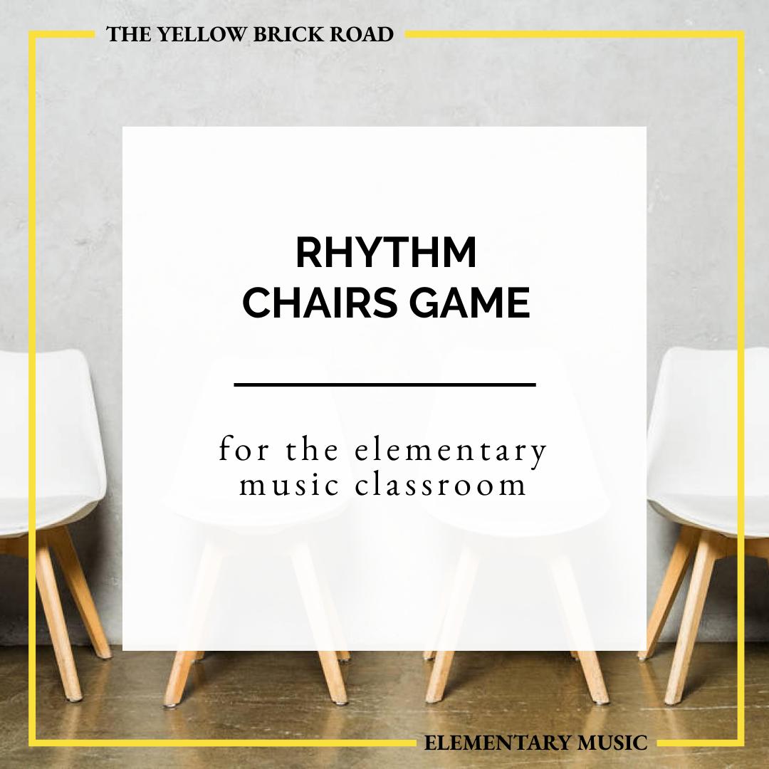 Rhythm Chairs Game: teaching beat versus rhythm