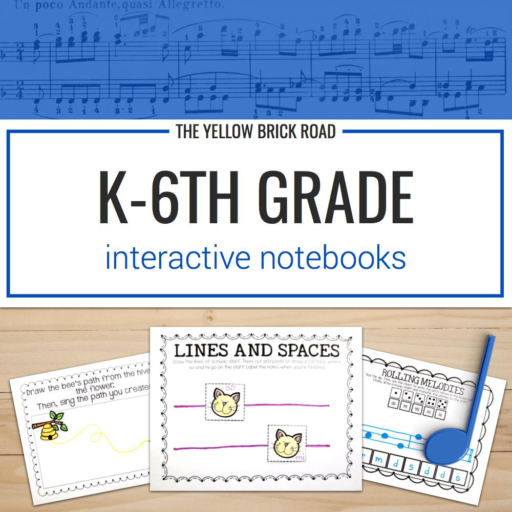Kindergarten-6th Grade Interactive Notebook
